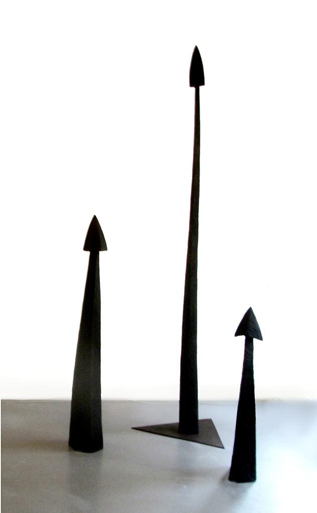Flèches. Des sculptures de Louis Perrin