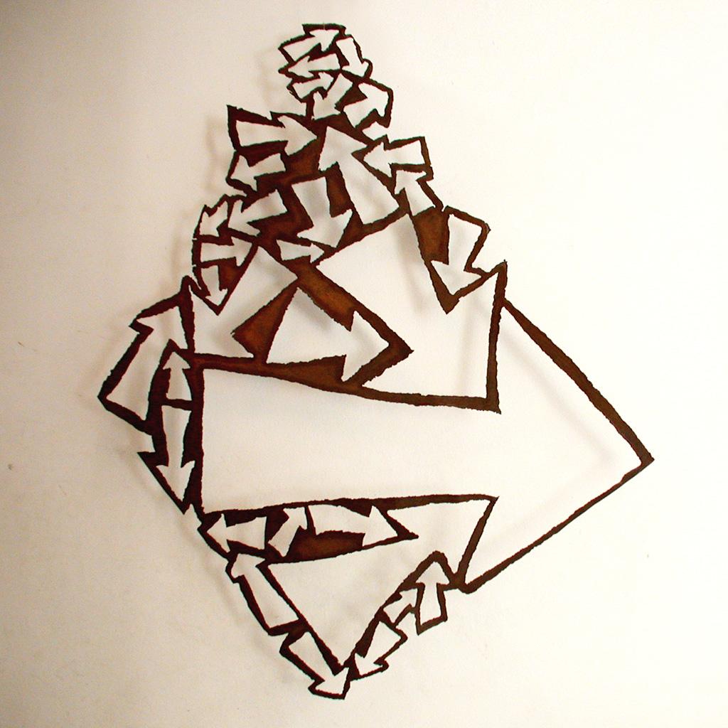 Flèche. Une sculpture de Louis Perrin