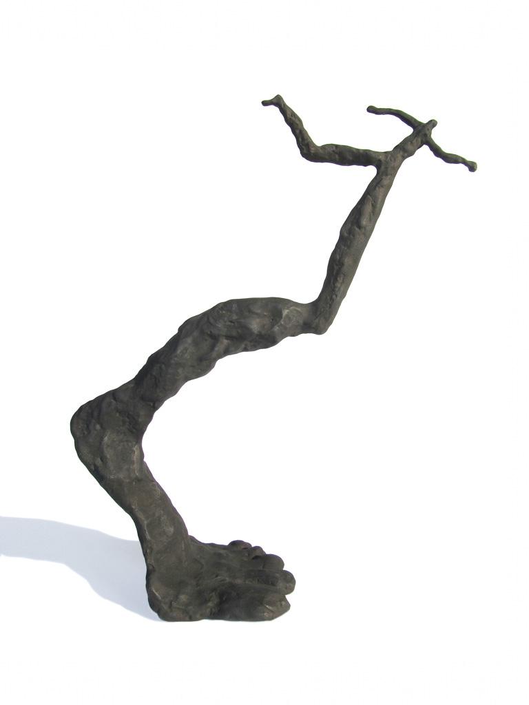 Zep sur la pointe du pied. Une sculpture de Louis Perrin