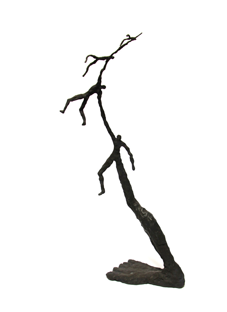 4 Zeps ensemble. Une sculpture de Louis Perrin